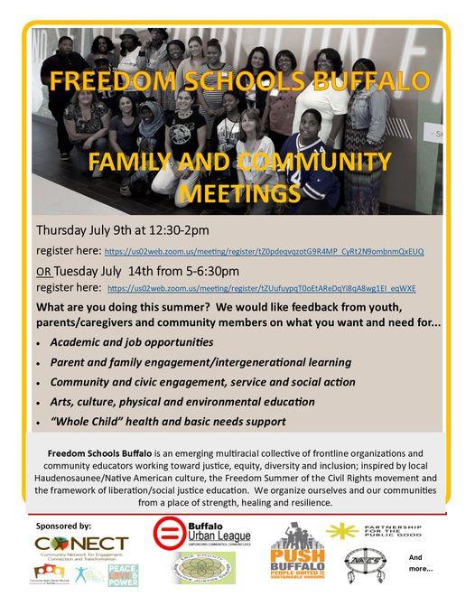 Freedom Schools Buffalo Family and Community Meetings