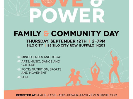 Peace, Love and Power Family & Community Day coming up NEXT WEEK!