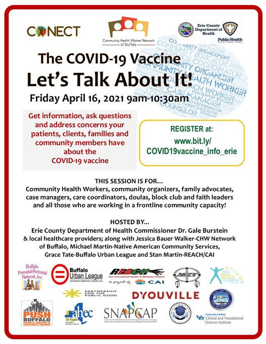 Vaccine Talk THIS FRIDAY 4/16 9a.m.