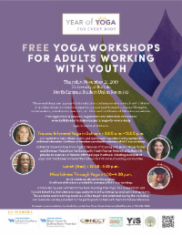 Join us for a free workshop about trauma-informed yoga and mindfulness in schools