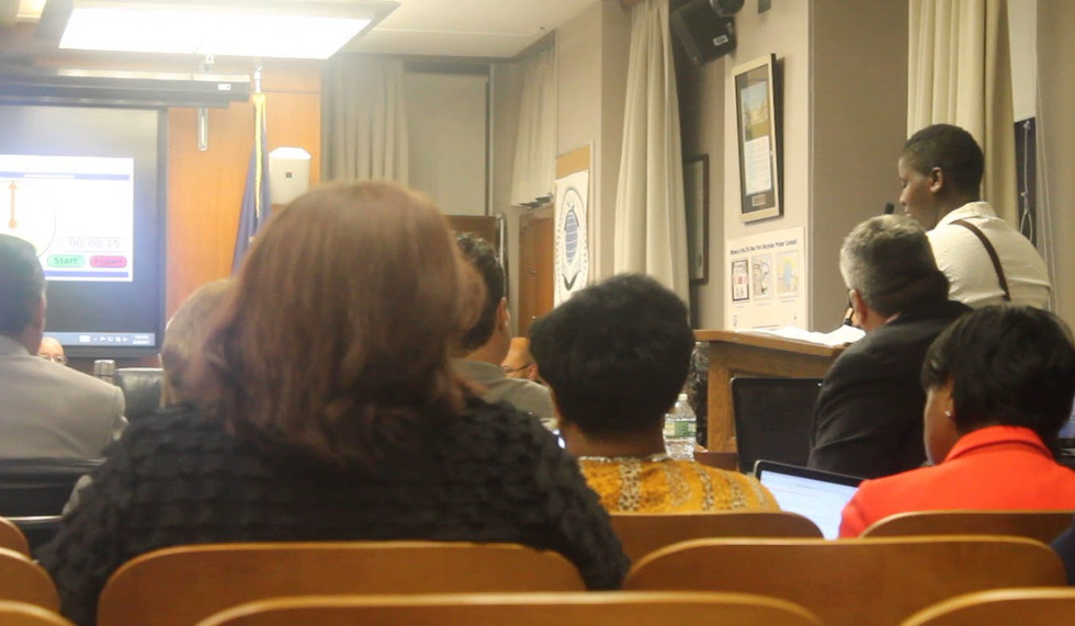 Adiah Aytch Speaking to Buffalo Board of Education