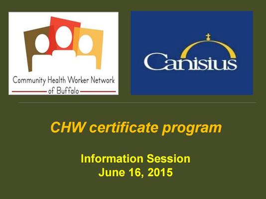 CHWNB/Canisius Certificate Program