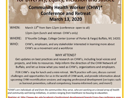 Please JOIN US for a Conference for CHW's!