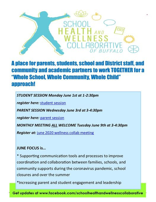 Upcoming School Health and Wellness Collaborative meetings