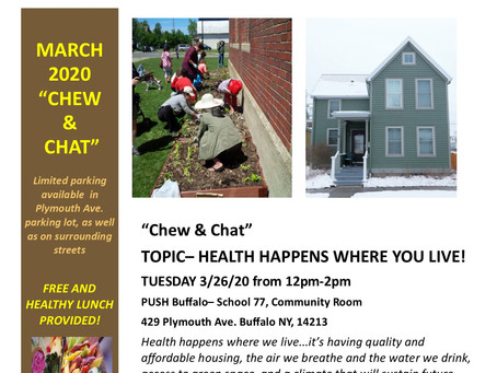 Chew & Chat at PUSH on March 26