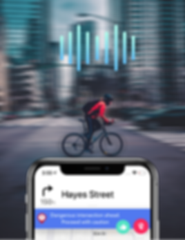 Ouvos Cycling app: Real-time hazard alerts