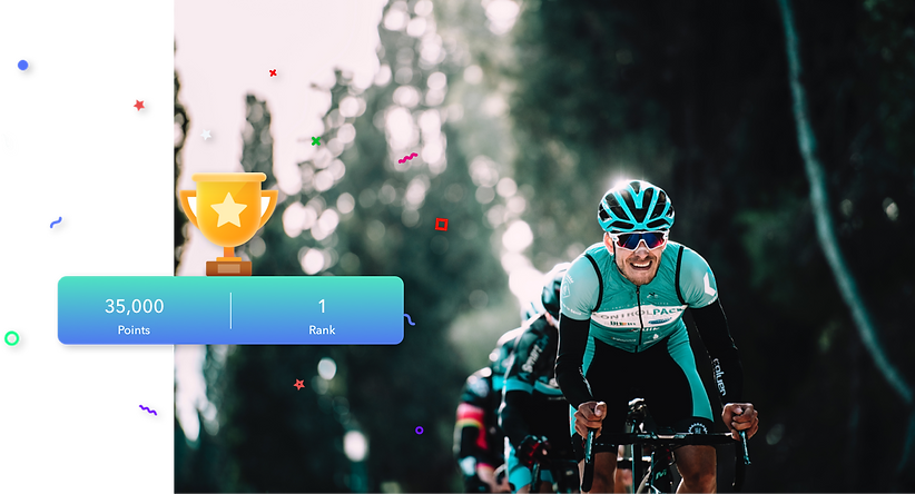 Ouvos Cycling app leaderboard