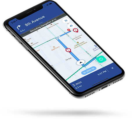Turn-by-turn navigation app for cyclists by Ouvos
