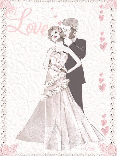 LOVE WEDDING GREETING CARD