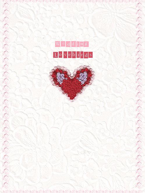 WEDDING LOVEBIRDS GREETING CARD