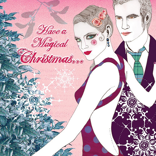 MAGICAL CHRISTMAS MISTLETOE GREETING CARD
