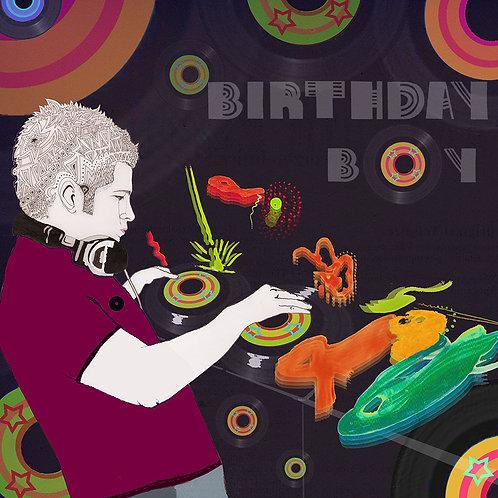 BIRTHDAY BOY DJ GREETING CARD