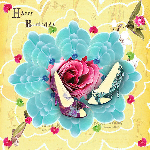 DANCING SHOES BIRTHDAY GREETING CARD