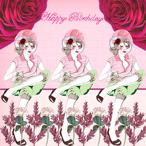 HAIR SALON BIRTHDAY GREETING CARD