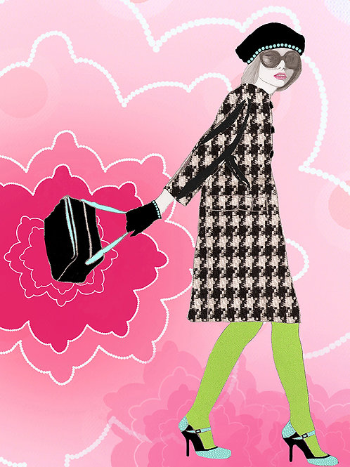 SHE'S IN FASHION A4 GICLÉE PRINT 3/3