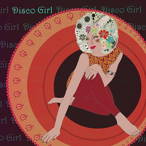 DISCO GIRL GREETING CARD