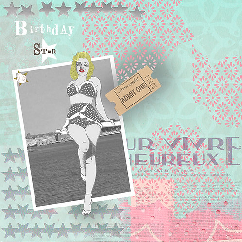 MARILYN MONROE BIRTHDAY STAR GREETING CARD