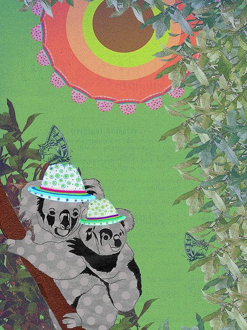 MUM AND BABY KOALA GREETING CARD