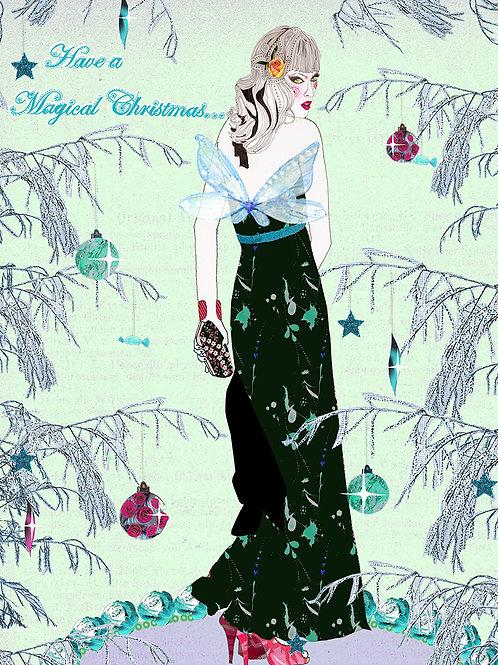 MAGICAL CHRISTMAS FAIRY GREETING CARD