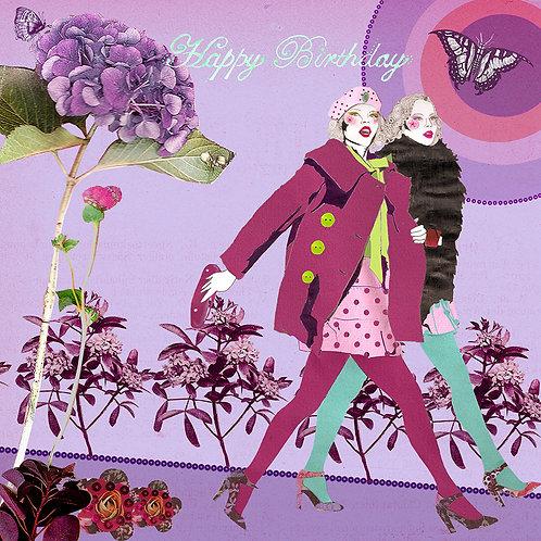 FEMME FASHIONISTAS HAPPY BIRTHDAY GREETING CARD