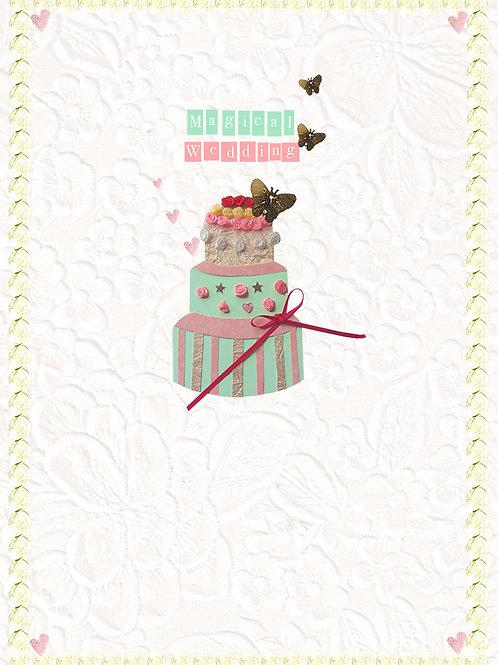 MAGICAL WEDDING CAKE GREETING CARD