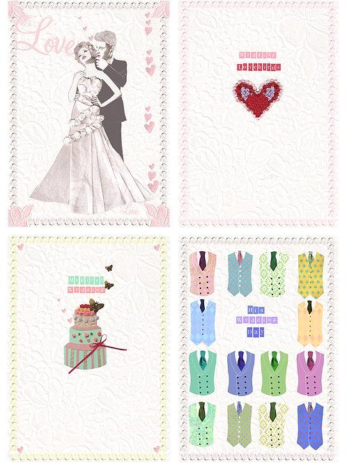 ENCHANTING WEDDING ASSORTED GREETING CARD PACK