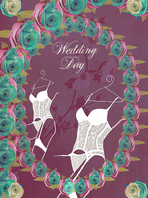 WEDDING DAY LINGERIE GREETING CARD