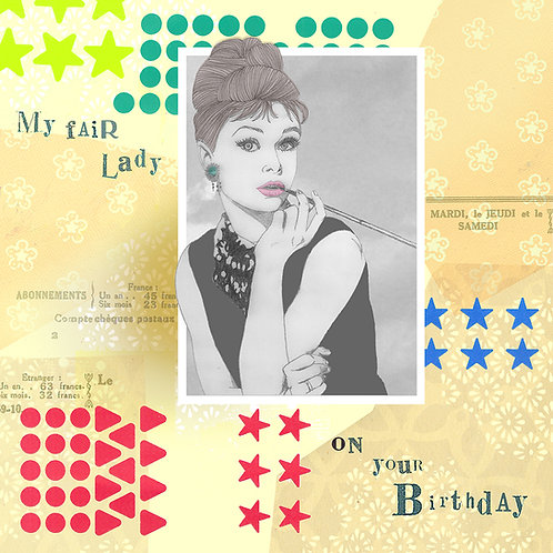 AUDREY HEPBURN BIRTHDAY GREETING CARD