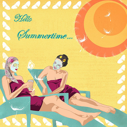 HELLO SUMMERTIME...GREETING CARD