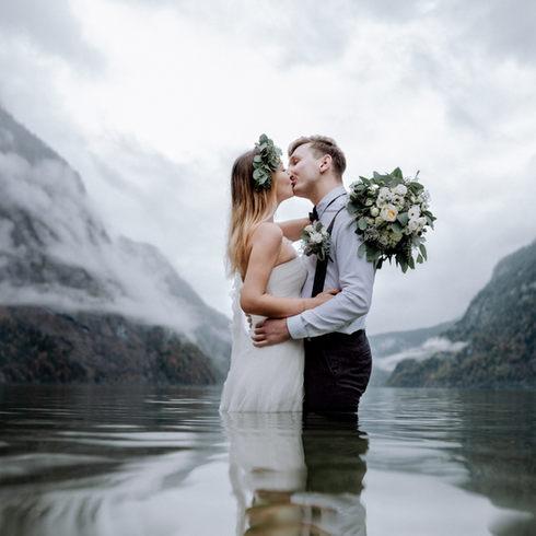 After Wedding Shooting am Königssee in Berchtesgarden