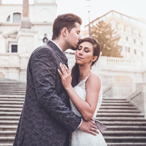 After Wedding Shooting auf der Spanischen Treppe in Rom