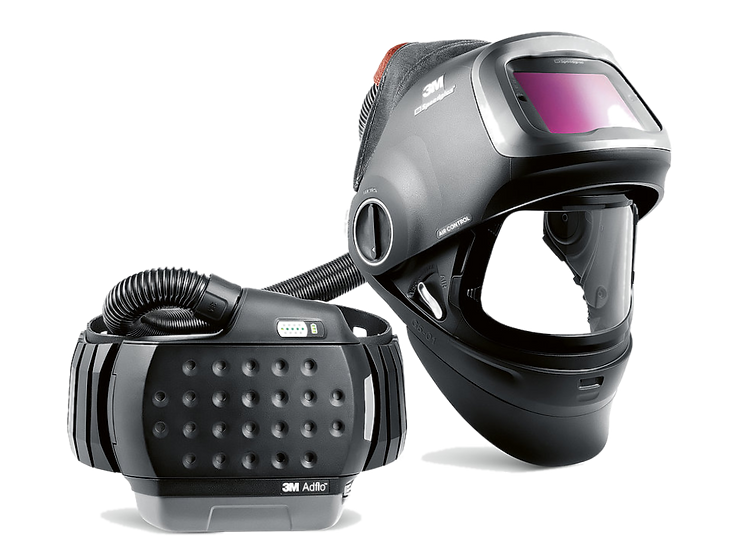 3M™ Automatikschweißmaske Speedglas™ G5-01 mit Gebläseatemschutzsystem Adflo
