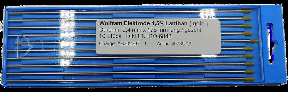 WIG Wolframelektroden, WL-15, gold