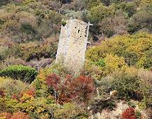 The leaning tower of Vernazzano near Trasimeno lake