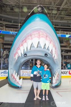 SJ Sharks Fan Fest - Sharks Head
