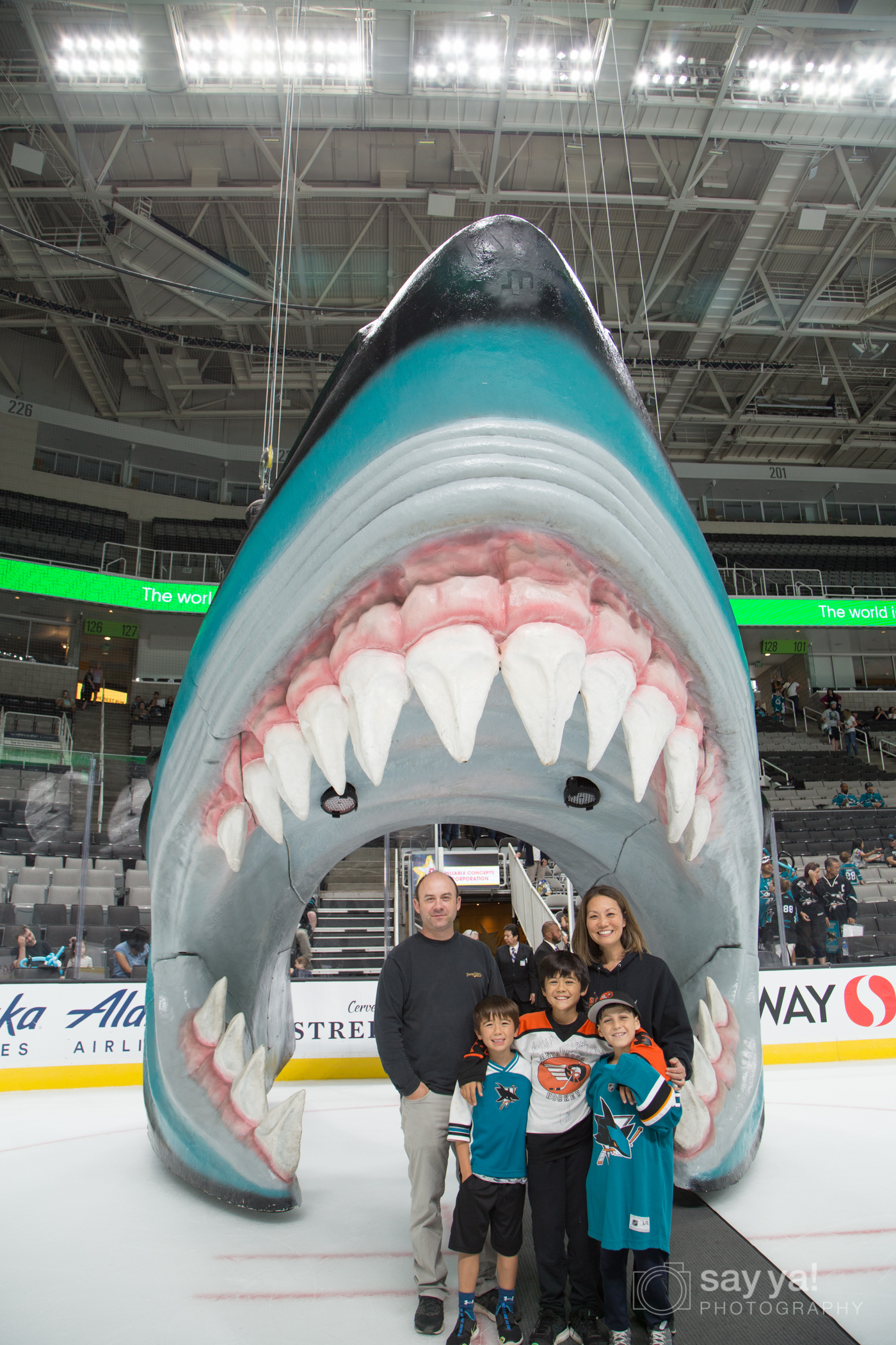 SJ Sharks Fanfest - Sharks Head