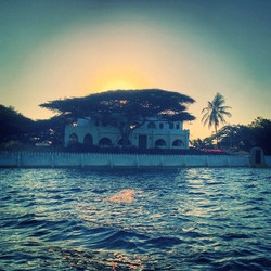 House sunset