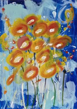 Dipinto floreale astratto