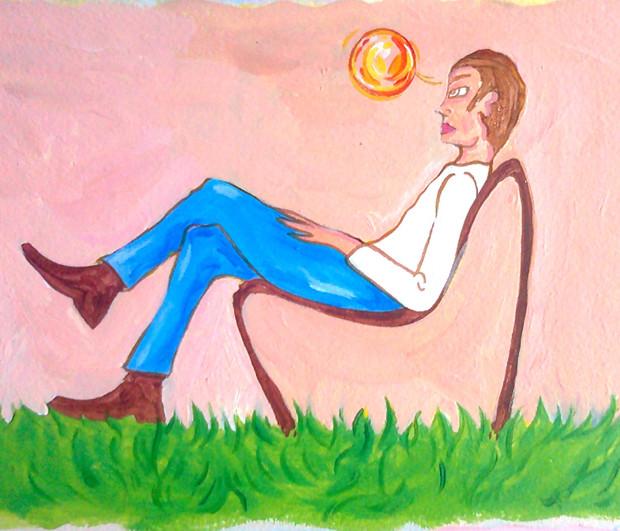 dipinto su carta, Il mondo di umanità 58