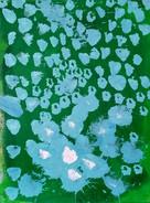 Dipinto astratto originale in verde
