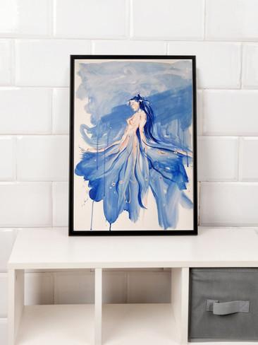 Figura di donna e fiori