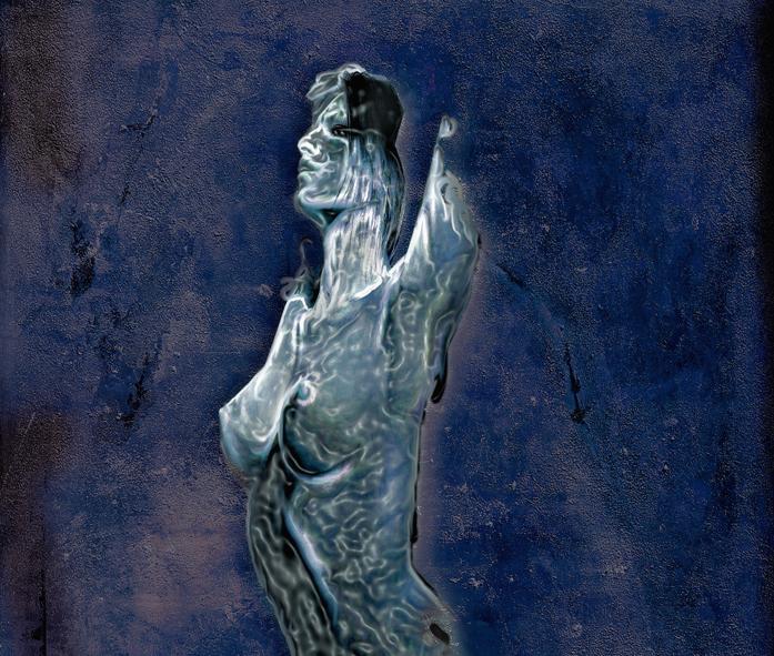 woman print digital art