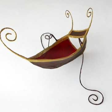 Boat marrone a remi