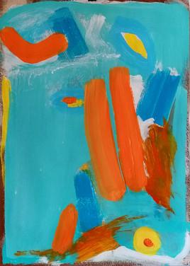 Dipinto astratto azzurro, su misura