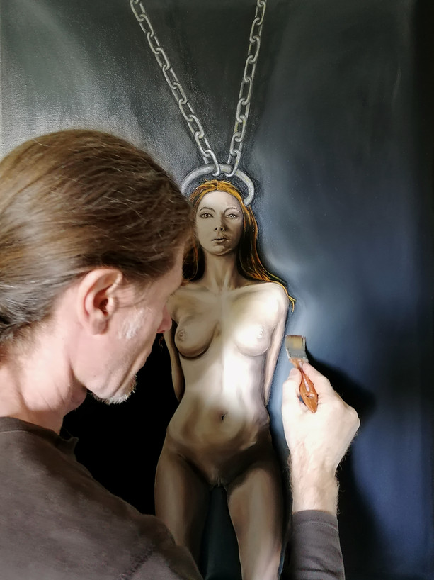 Realizzazione quadro ad olio, nudo artistico