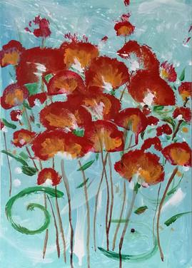 Original floral painting, customized