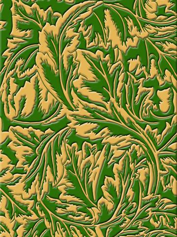 Sacriste After Morris mordorè, verde