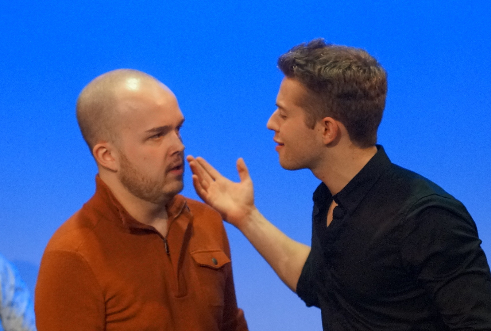 Pigmalione (Quinn Mitchell) with Orfeo (Jacob Abrahamse)