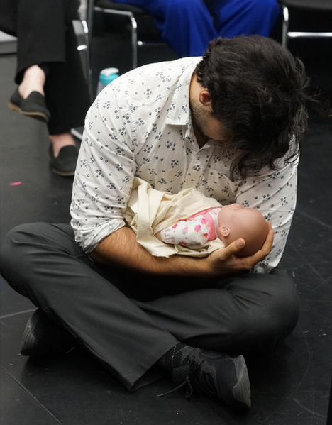 Pigmalione (Dimitri Katotakis) and his baby (baby doll)