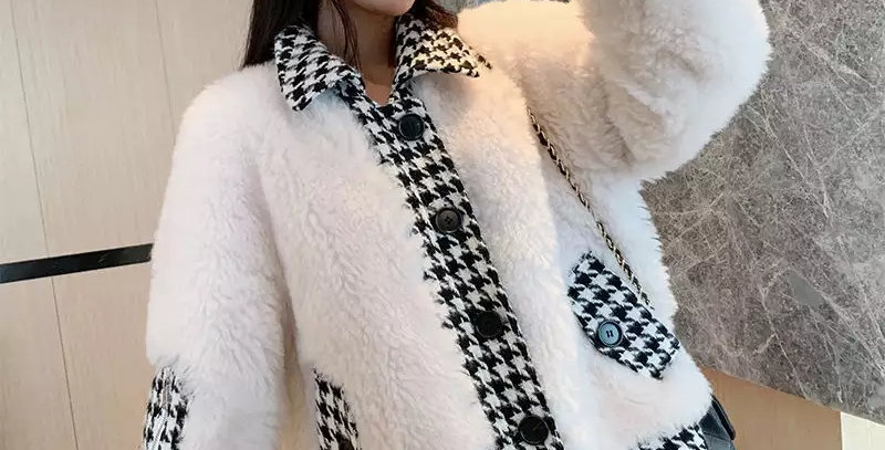 Patchwork Faux Fur Warm Winter Jacket